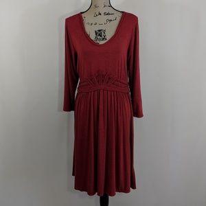 MAX STUDIO Knee Length Cherry Dress 3/4 Sleeve XL